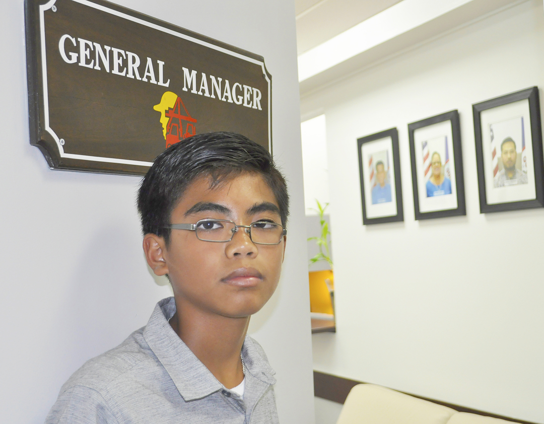 Island Leadership Day Counter-part General Manager Bryce Santos.